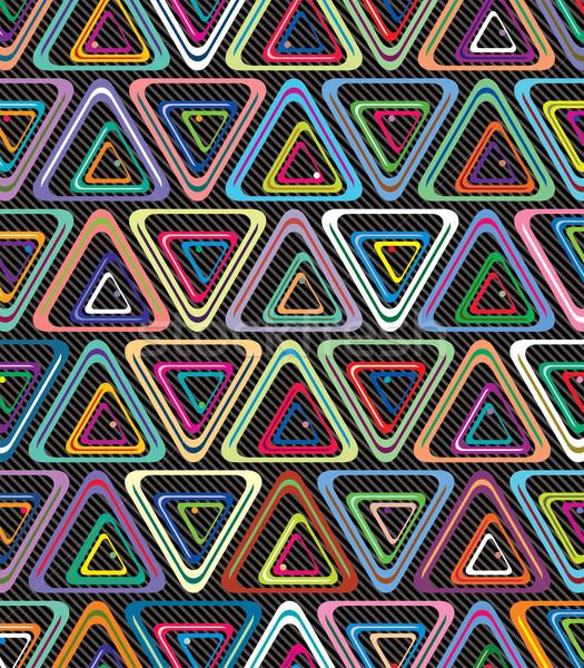 Foto stock: Vetor · abstrato · colorido · tecnologia · teia · azul