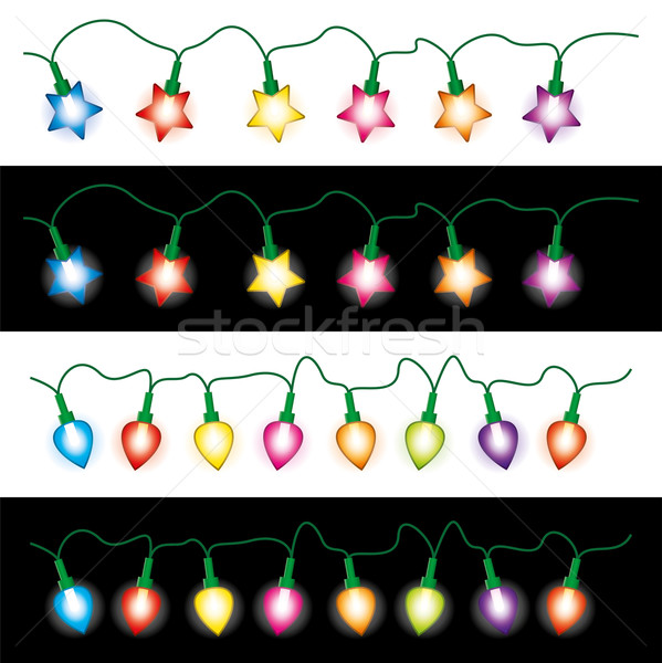 vector christmas light lamps Stock photo © freesoulproduction