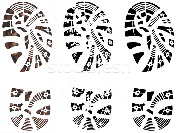 vector man's grunge foot prints Stock photo © freesoulproduction