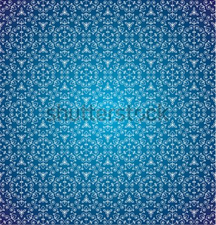 Stock photo: vector blue seamless background with snowflakes