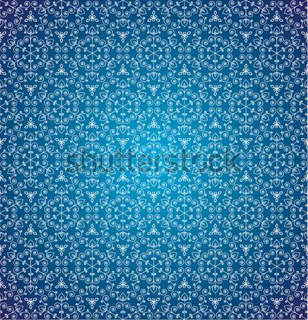 Foto d'archivio: Vettore · blu · senza · soluzione · di · continuità · fiocchi · di · neve · design · neve