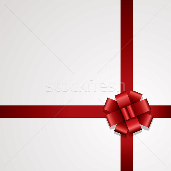 Сток-фото: вектора · подарок · лук · рождения · красный