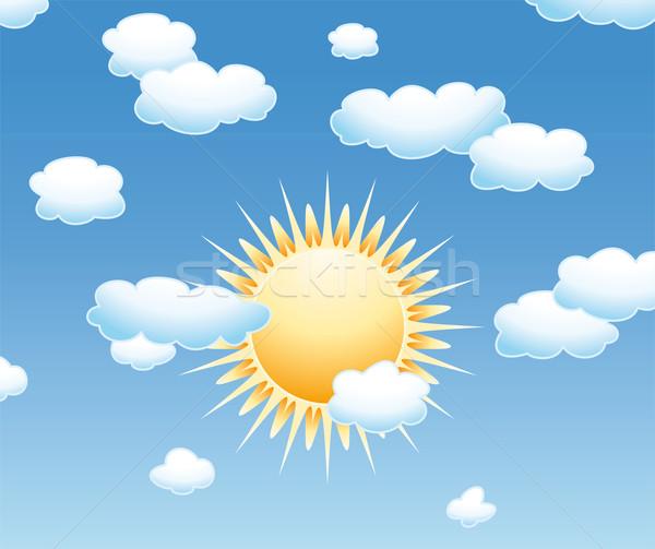Солнце в небесах рисунки