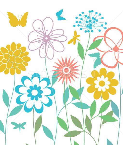 вектора весенние цветы цветок аннотация природы саду Сток-фото © freesoulproduction