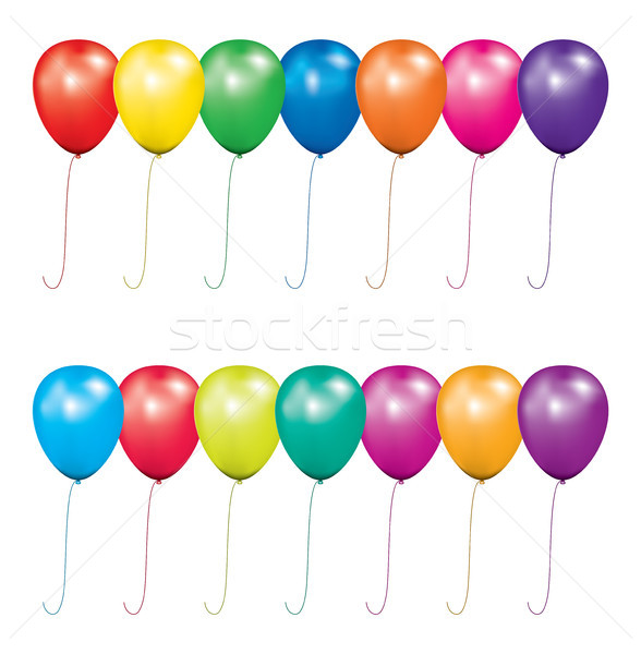vector set of air balloons for birthday or party Stockfoto © freesoulproduction