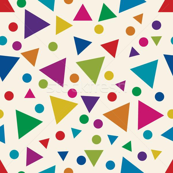 Vektör renkli circles soyut geometrik Stok fotoğraf © freesoulproduction