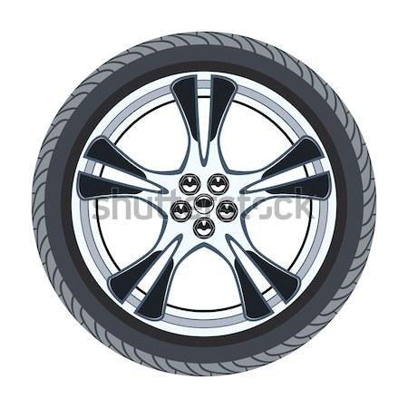 vector car tire and alloy wheel  Stock photo © freesoulproduction