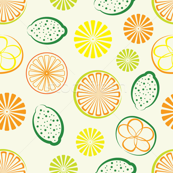 vector citrus seamless background Stock photo © freesoulproduction