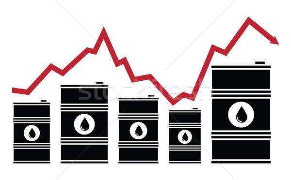 вектора нефть цен финансовых диаграммы красный Сток-фото © freesoulproduction