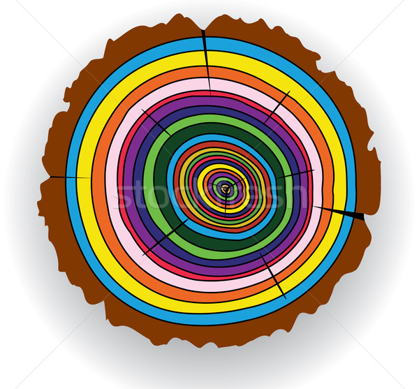vector colorful wooden cut Stock photo © freesoulproduction