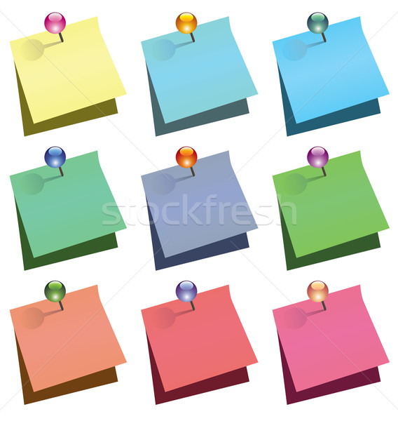 Vector papel notas brillante diseno Foto stock © freesoulproduction