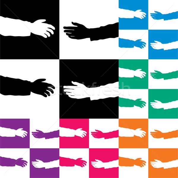Stock photo: vector set of helping hands