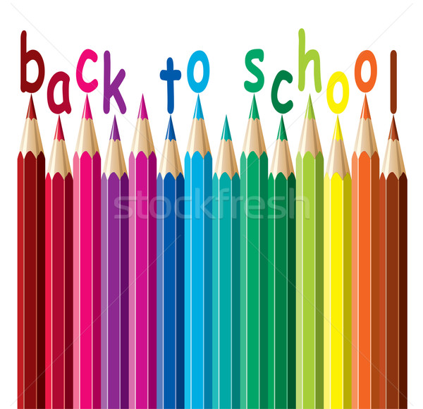 vector colorful pencils. back to school  Stock photo © freesoulproduction