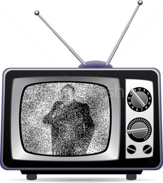 レトロな テレビ 静的 画面 ベクトル テレビ ストックフォト © freesoulproduction