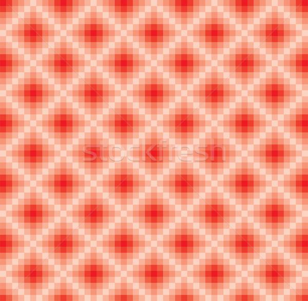 ストックフォト: ベクトル · 抽象的な · 赤 · モザイク · パターン · テクスチャ