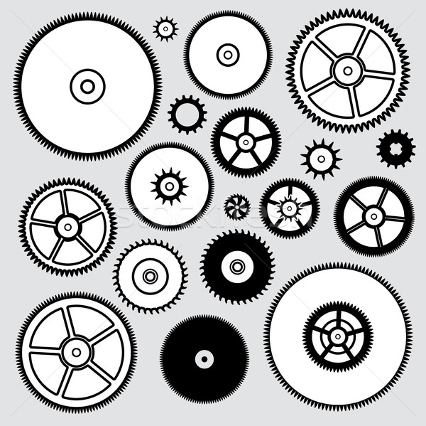vector collection of clock gears Stock photo © freesoulproduction
