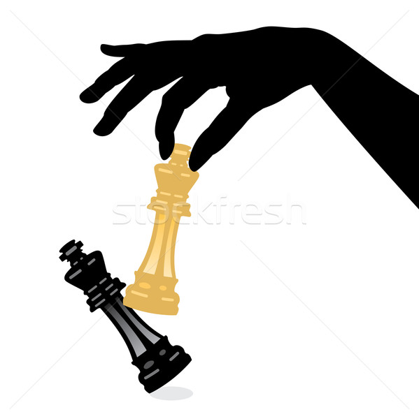 vector playing chess game and defeating the king Stock photo © freesoulproduction