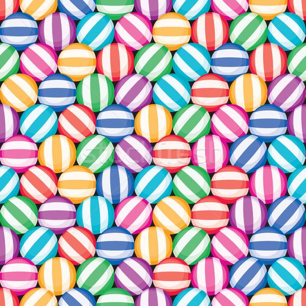 Foto stock: Vetor · sem · costura · doce · padrão · colorido