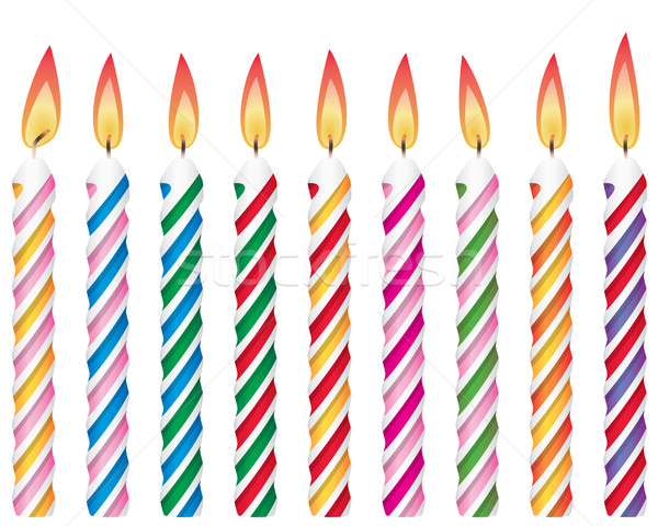 colorful birthday candles Stock photo © freesoulproduction