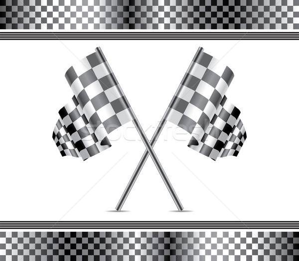 vector racing background and flags  Stock photo © freesoulproduction