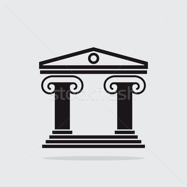vector  icon of ancient greek architecture building with columns Stock photo © freesoulproduction