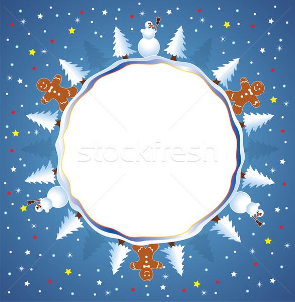 праздник зима различный Элементы дерево мира Сток-фото © freesoulproduction