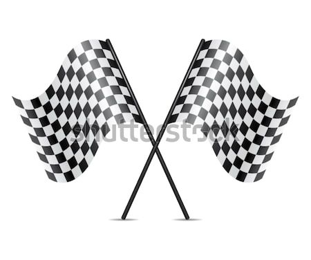 vector symbol of crossed racing flags  Stock photo © freesoulproduction