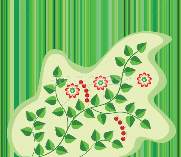 цветочный листьев цветы Ягоды трава природы Сток-фото © freesoulproduction