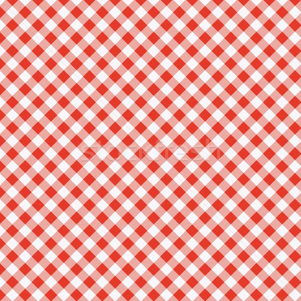 Zdjęcia stock: Wektora · wzór · piknik · obrus · czerwony · gotowania