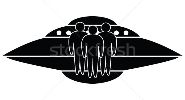 vector ufo spaceship and aliens Stock photo © freesoulproduction