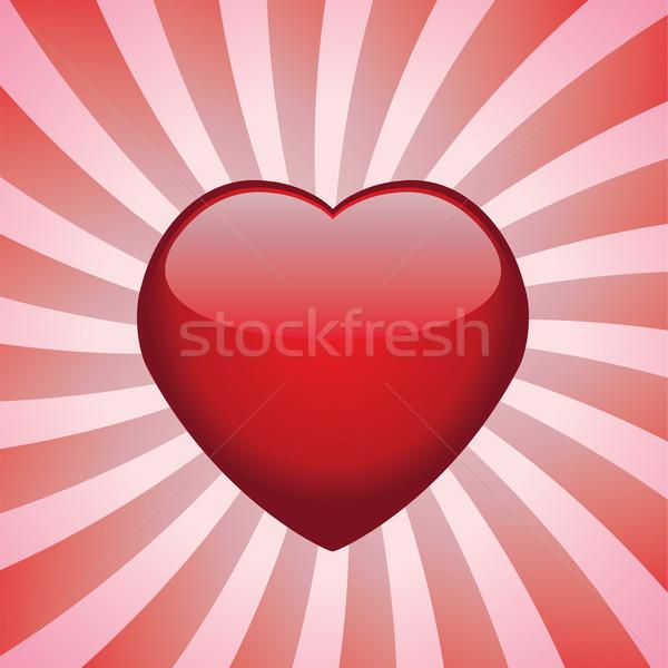 Vektor szív retro orvosi fény egészség Stock fotó © freesoulproduction
