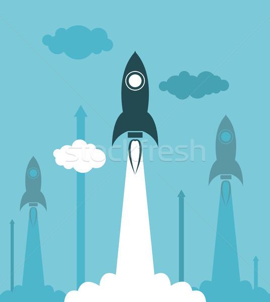 Vector groep raket illustratie business Stockfoto © freesoulproduction