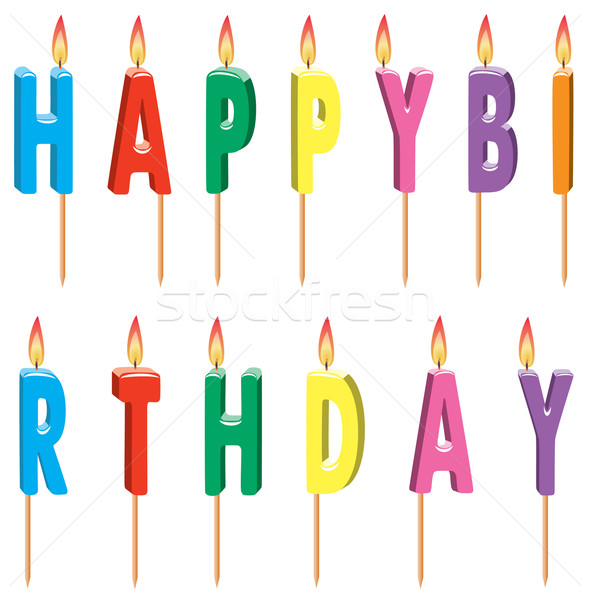 vector colorful birthday candles Stock photo © freesoulproduction