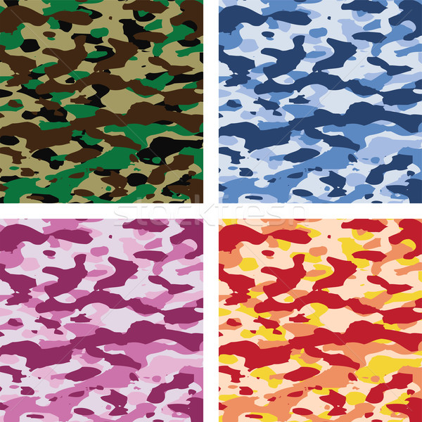 vector colorful camouflage patterns  Stock photo © freesoulproduction