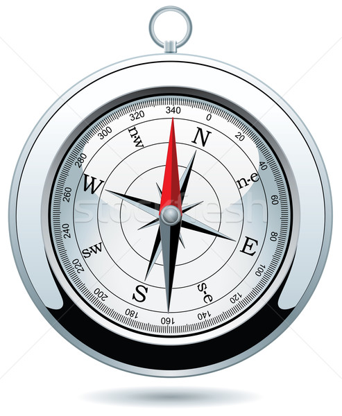 vector silver compass Stock photo © freesoulproduction