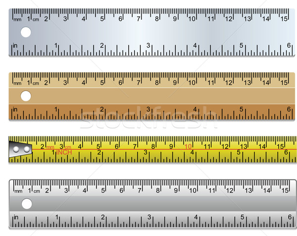 vector set of rulers and measuring tape Stock photo © freesoulproduction