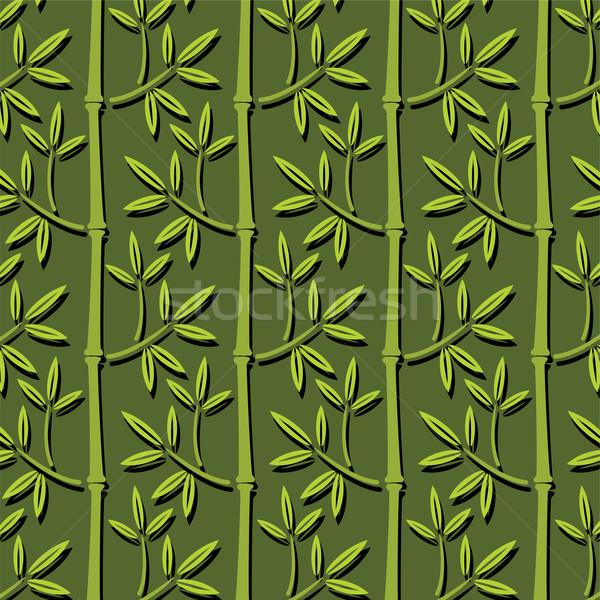 Zdjęcia stock: Wektora · bezszwowy · bambusa · tapety · drzewo · streszczenie