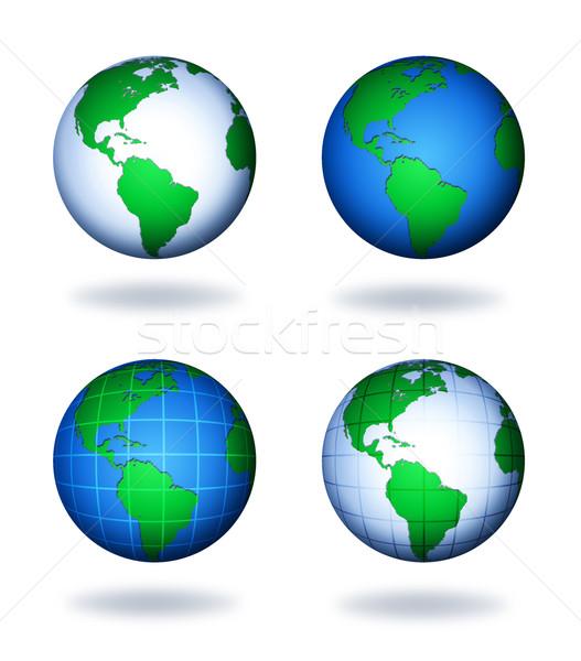 地球 乳房 世界中 抽象的な 世界 青 ストックフォト © freesoulproduction