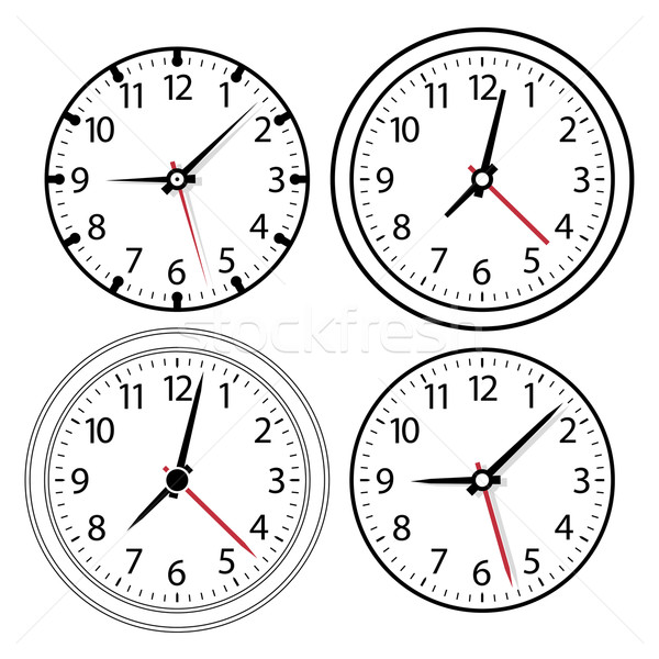 vector clock  Stock photo © freesoulproduction