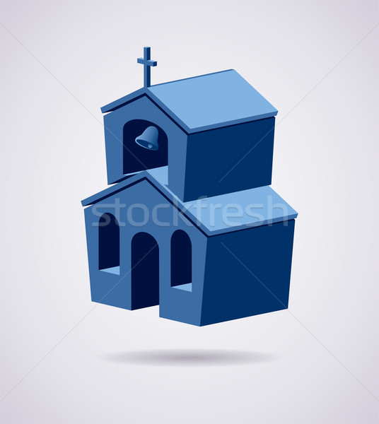 vector 3d symbol of church building  Stock photo © freesoulproduction