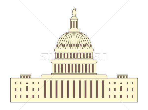 Wektora ikona Stany Zjednoczone Capitol Hill budynku Washington DC Zdjęcia stock © freesoulproduction