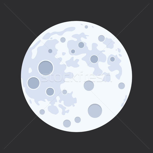 vector illustration of full moon Stock photo © freesoulproduction