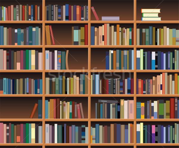 Vetor prateleira de livros escritório projeto educação Foto stock © freesoulproduction