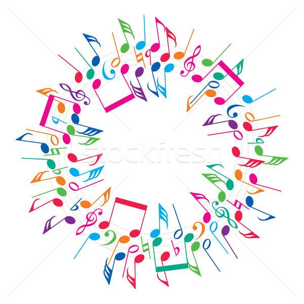 Vettore colorato note musicali abstract sfondo segno Foto d'archivio © freesoulproduction