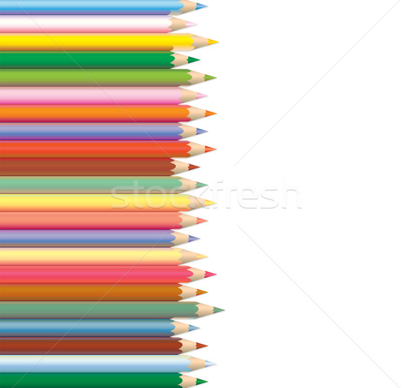 coloured pencils Stock photo © freesoulproduction