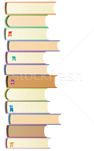 vector books with bookmarks Stock photo © freesoulproduction