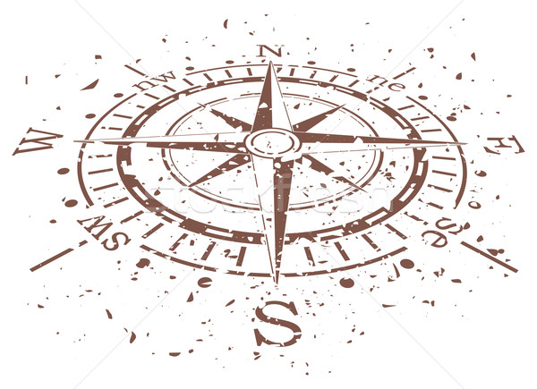 vector grunge compass Stock photo © freesoulproduction