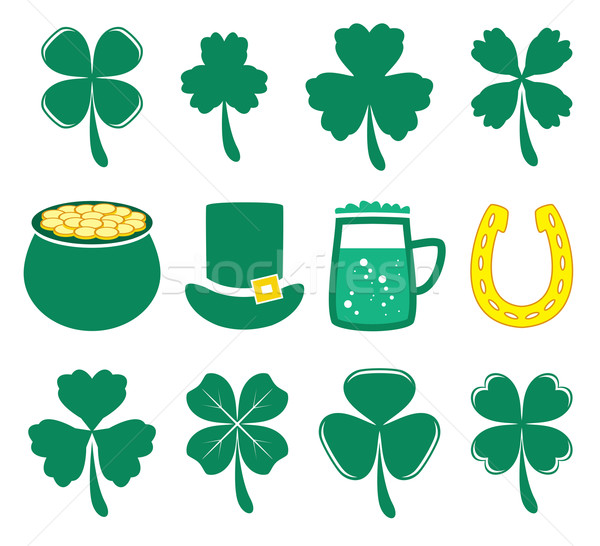 vector set of St. Patrick's Day icons Stock photo © freesoulproduction