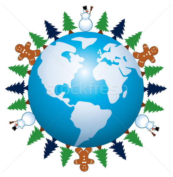Stock photo: vector winter holiday background