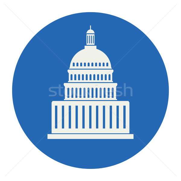 vector icon of united states capitol hill building Stock photo © freesoulproduction